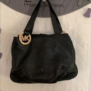 Michael Kors Black Leather Bag